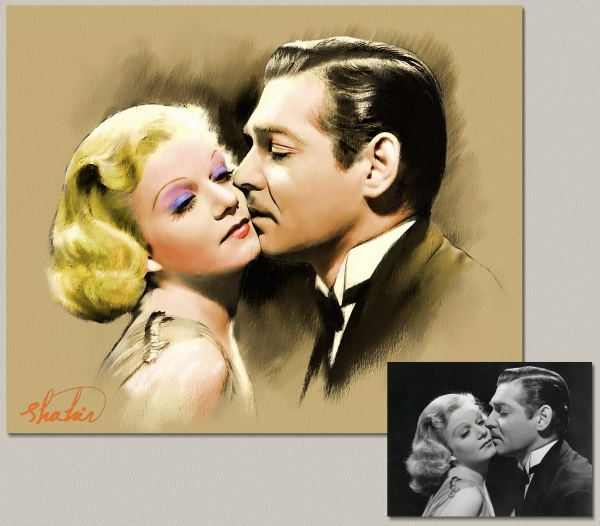 Jean Harlow, Clark Gable by shahin